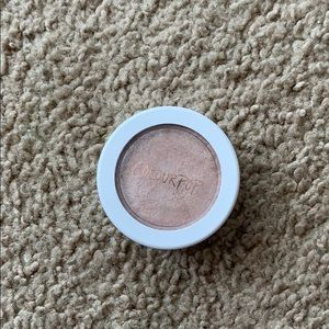 Only swatched Colourpop highlighter